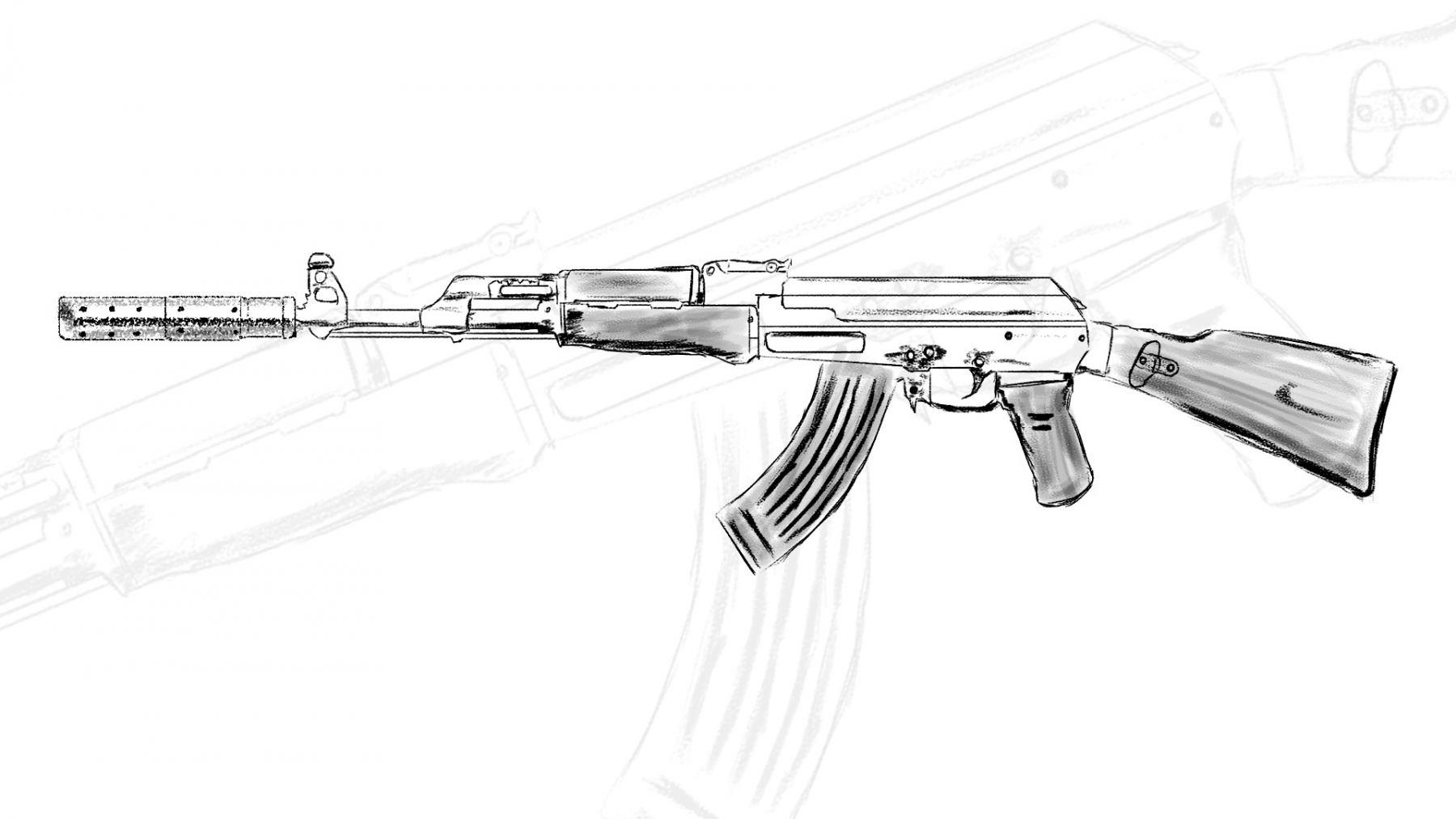 AK47-z-tlumikiem