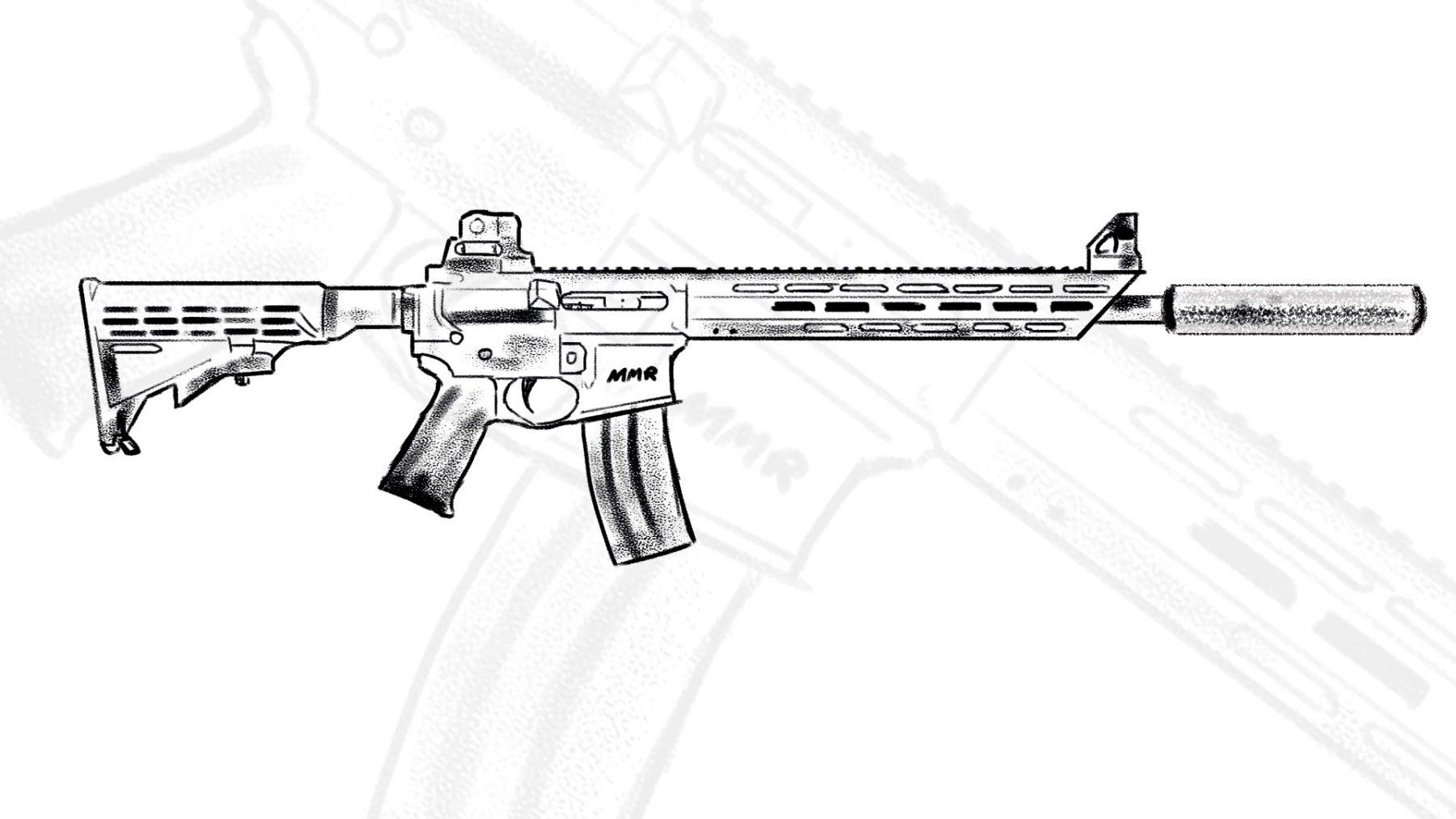 AR-15-z-tlumikiem